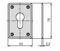 CISA 06043 Накладка под евроцилиндр