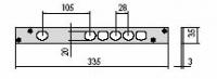 CISA 06220-05 Встречная планка для двойных замков CISA 56 и 57 серии