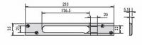 CISA 06220-20 Встречная планка для электромеханических замков CISA 15535, 17685