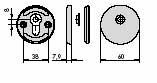 CISA 06473-10 Накладка круглая под под стержень цилиндра