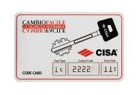CISA 17986 Врезной электромеханический независимый перекодируемый NEW CAMBIO FACILE замок. В корпусе два запорных механизма: цилиндр+ключ.