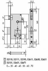 CISA 5С611 Замок с защелкой. Засов с 2-х кратным выходом, имеет ответ. часть.