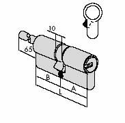 Цилиндровый механизм CISA ASTRAL ключ/стержень