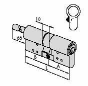 Цилиндровый механизм CISA RS3 S ключ/стержень