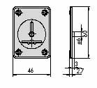 CISA 06081-01 Накладка внутренняя под сувальдный ключ