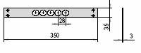 CISA 06220-02 Встречная планка для одинарных замков CISA 56 и 57 серии