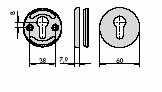 CISA 06473-00 Накладка круглая под евроцилиндр