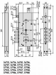 CISA 57985-48-RT Двойной перекодировочный NEW CAMBIO FACILE замок с блокировкой: верхний замок блокирует выпадающей шторкой нижний.